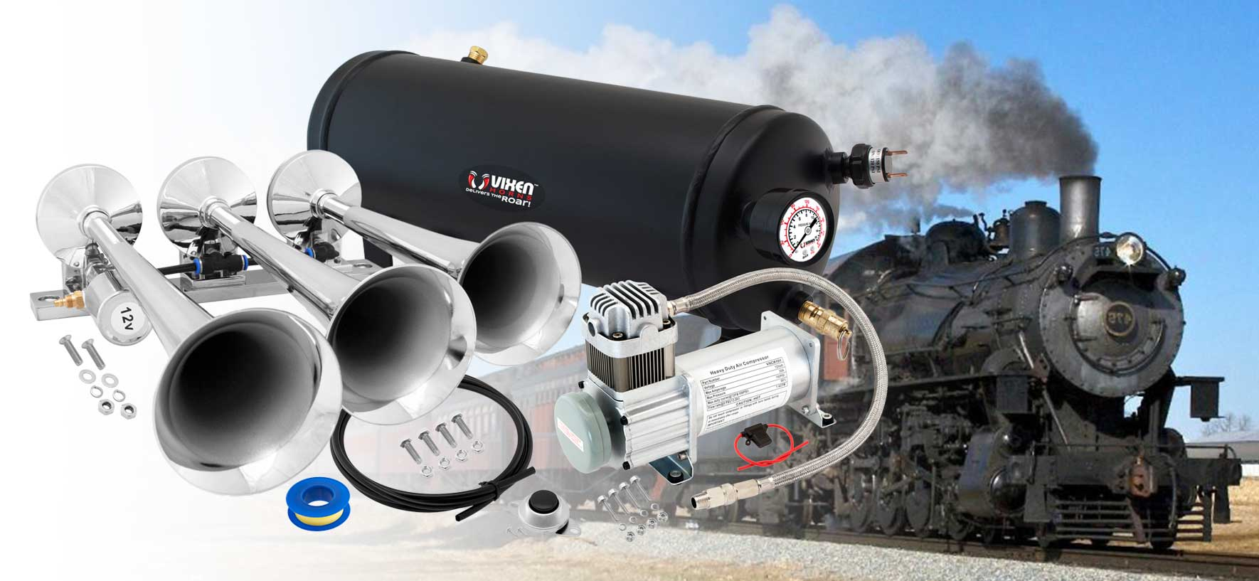 Considering adding a Trains Horn to your vehicle?