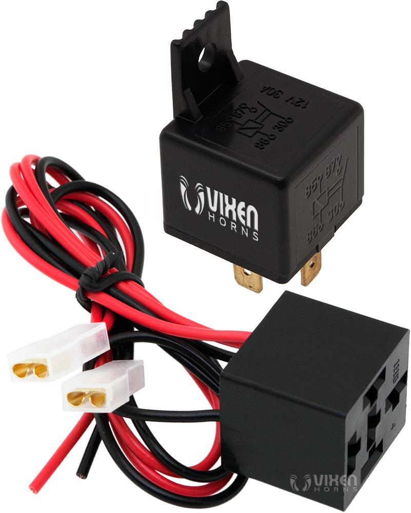 4 Pin Universal Relay Wiring Diagrams 12 Volt 30 Amp Diagram Vixen Horns Vxk7801 12v 30a With Pre Wired Rh Vixenhorns Com Bosch