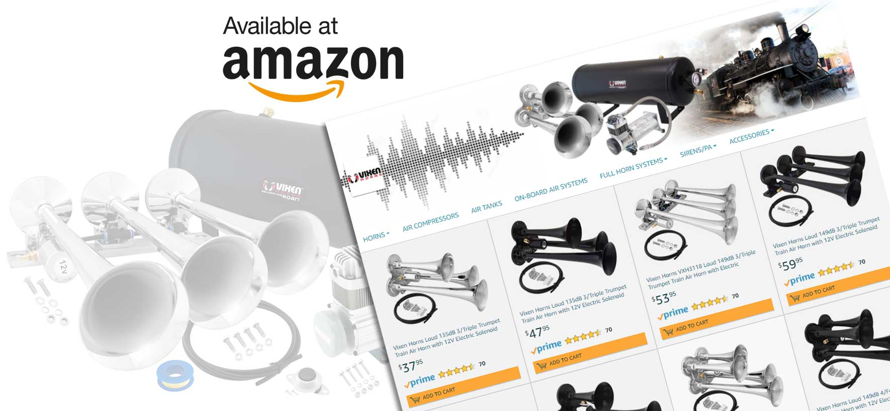 Vixen Horns Amazon Store Launched